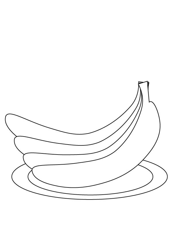 banana coloring page