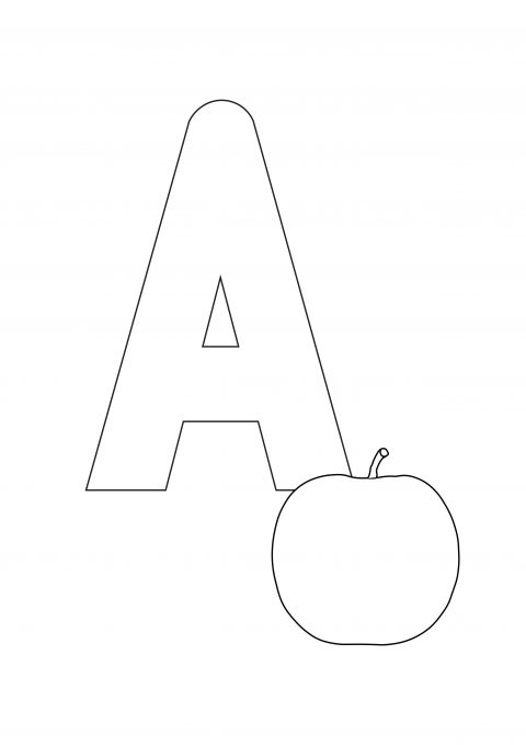 Letter a printable coloring page
