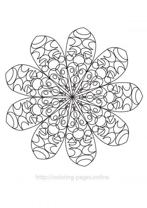 Moon mandala coloring page