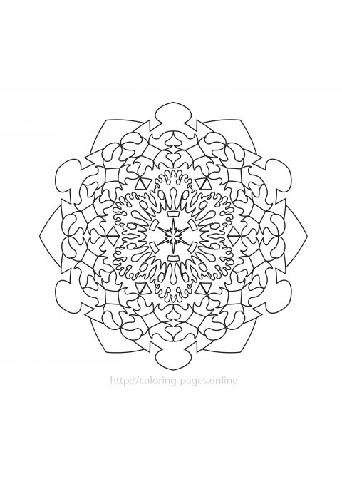 Detailed mandala coloring page