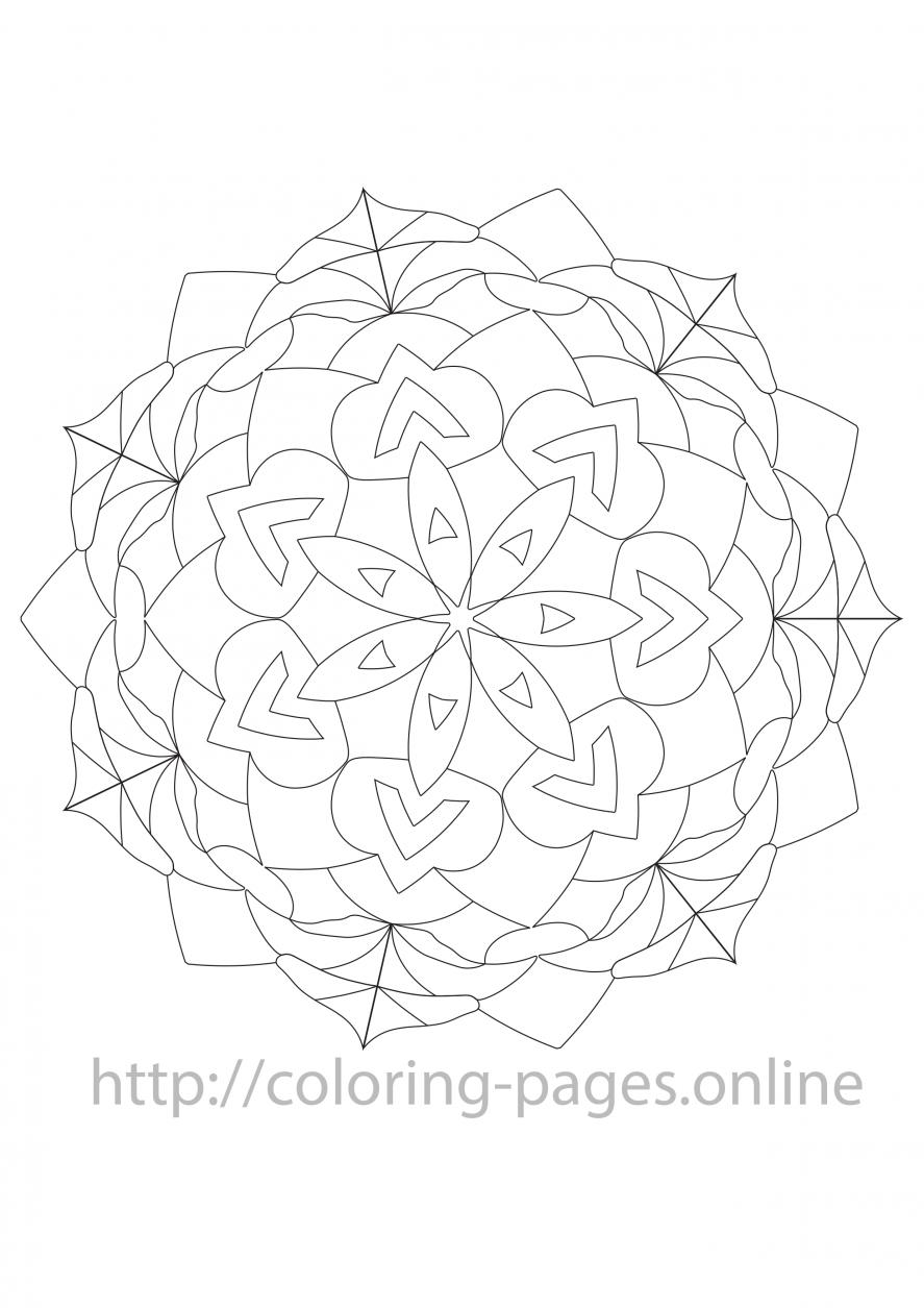 Charlotte mandala coloring page