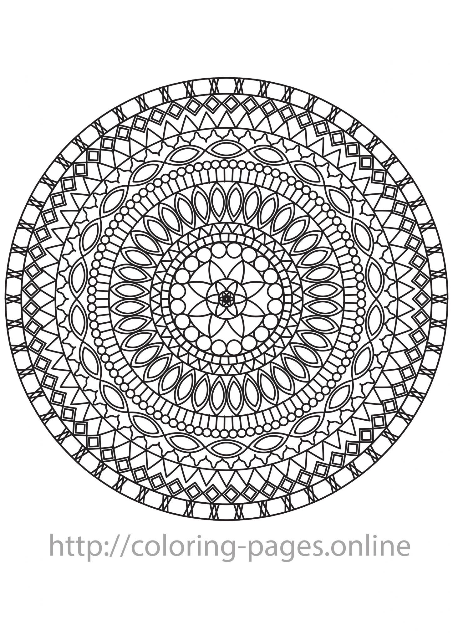 Gothic mandala coloring page