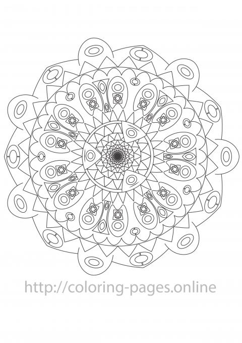 Lace mandala coloring page