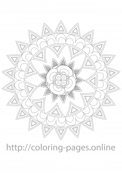 Lilly mandala coloring page