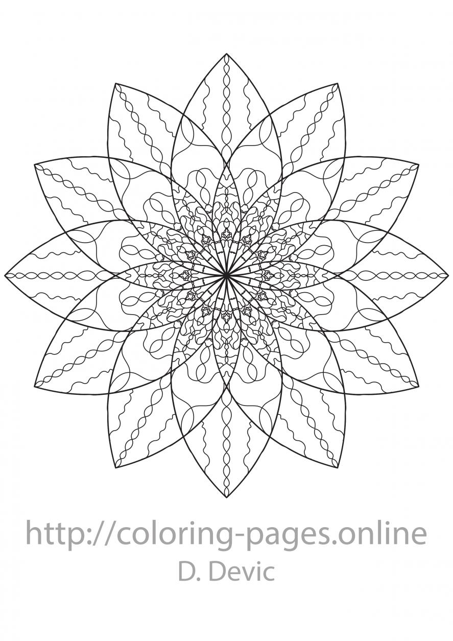 Springing mandala coloring page