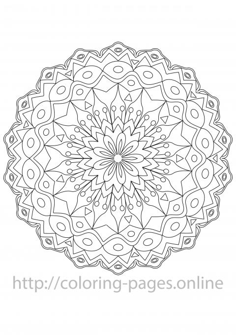 Vitrage mandala coloring page