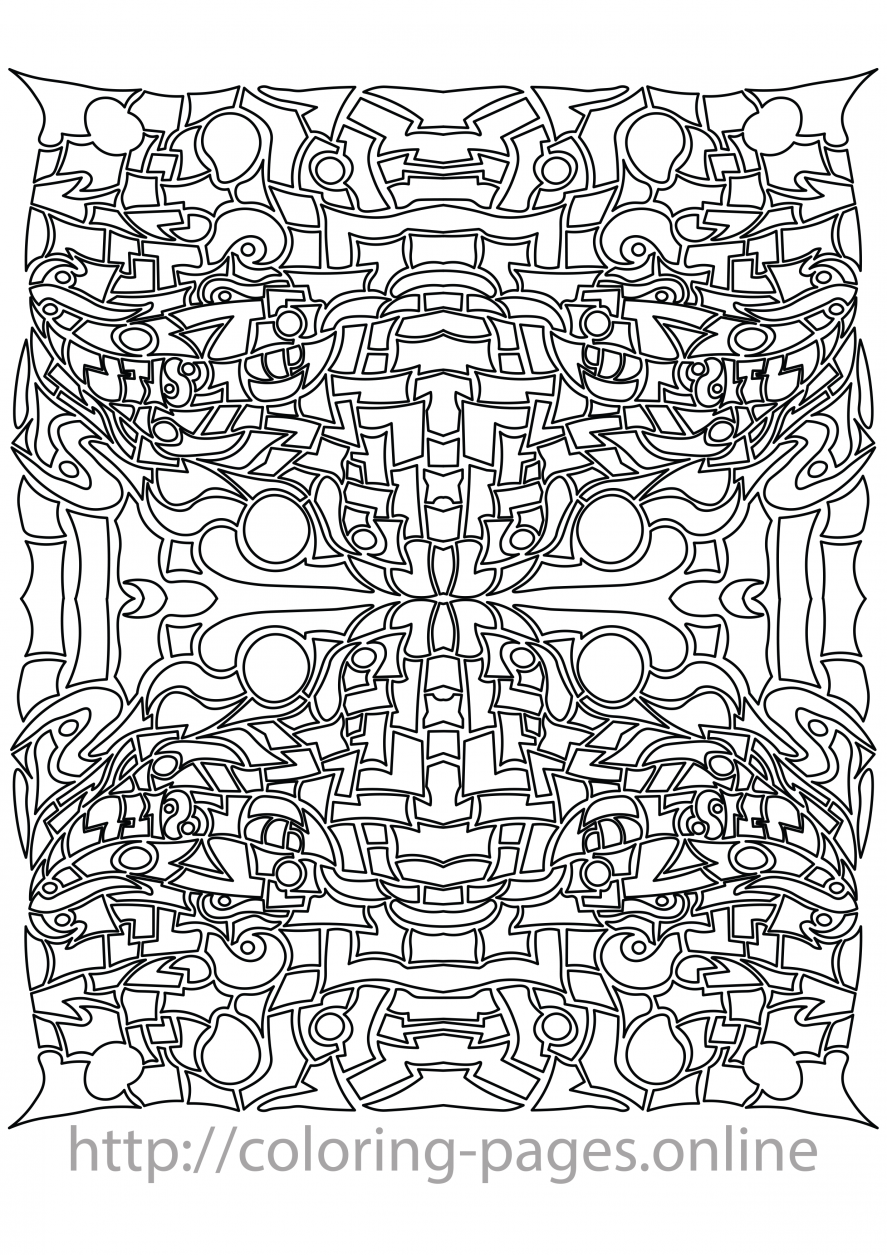 Circle pattern coloring page