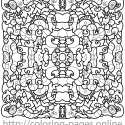 Face pattern coloring page