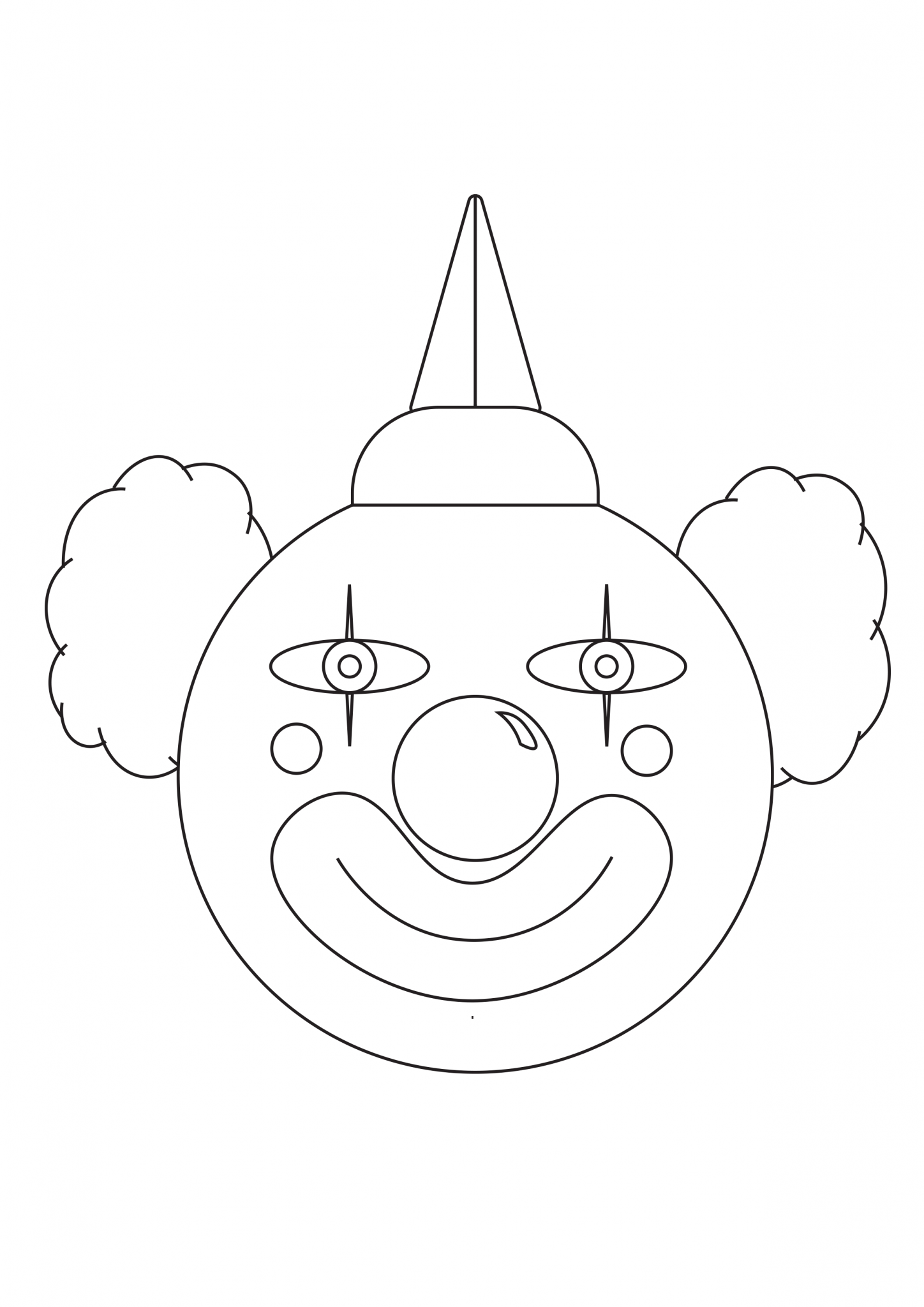 Clown coloring page