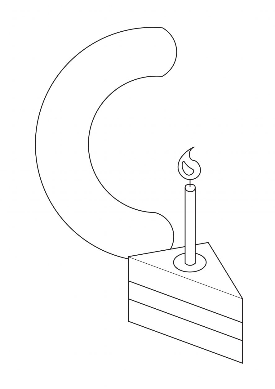Letter c printable coloring page