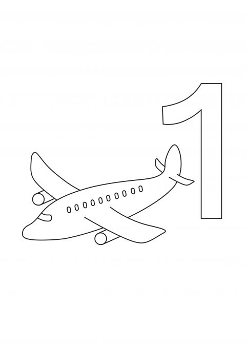 Number one coloring page