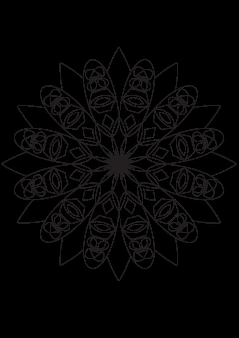 Indian mandala printable coloring page