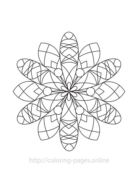 Mystic mandala coloring page