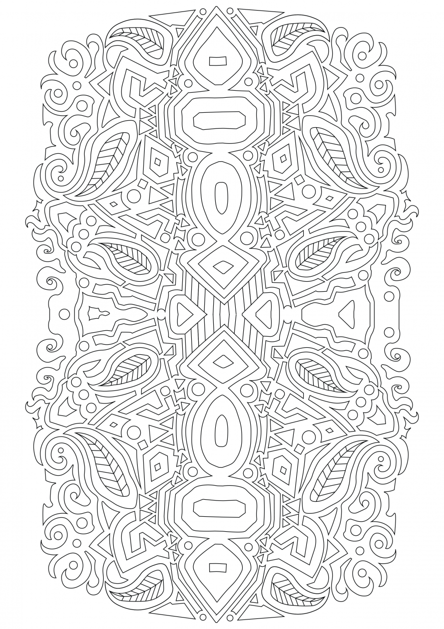 Pattern coloring page