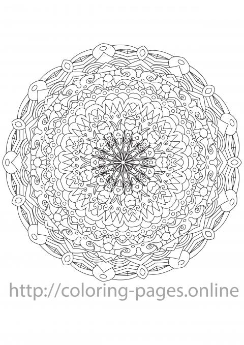Compact mandala coloring page