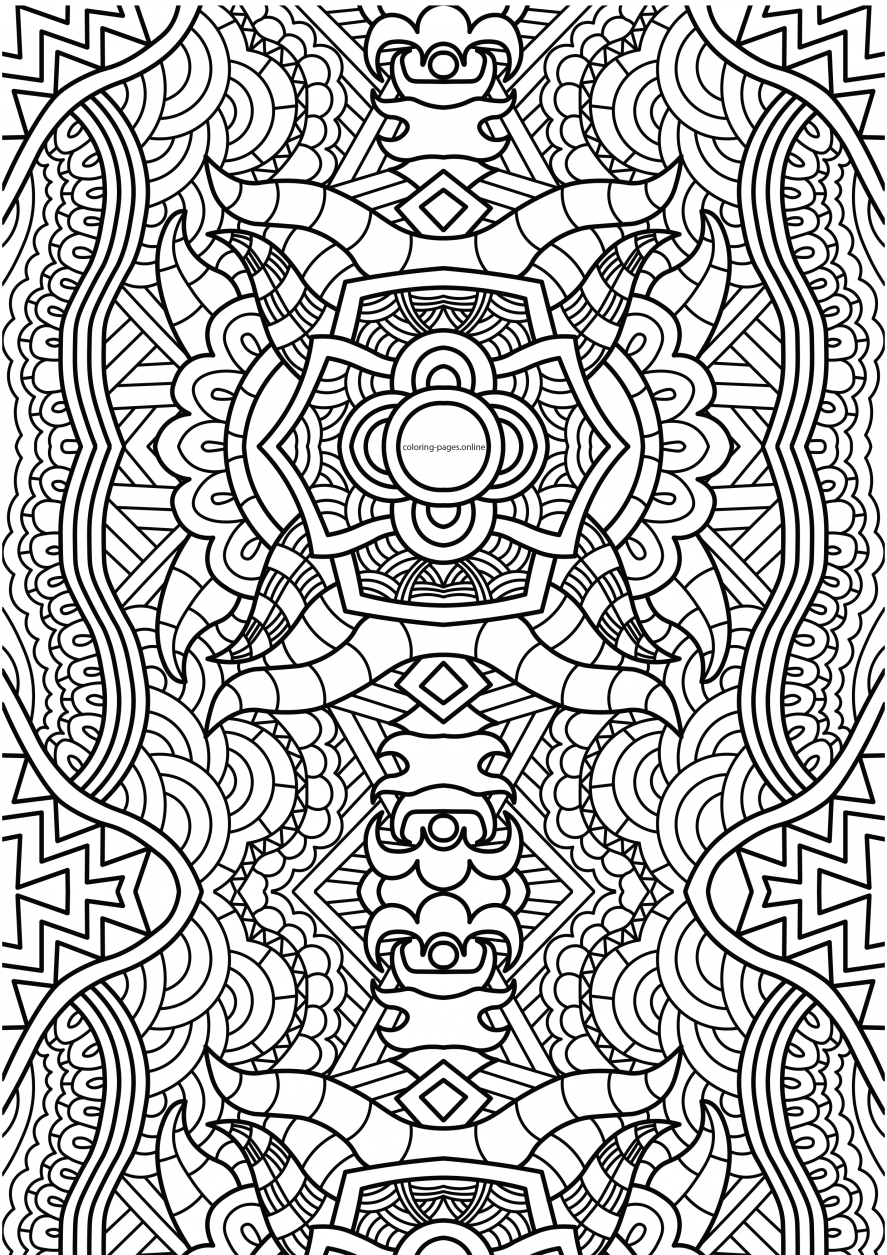 Horn pattern coloring page