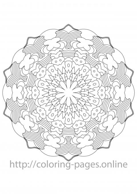 Line mandala coloring page