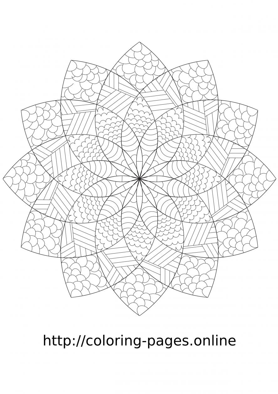 Detail mandala