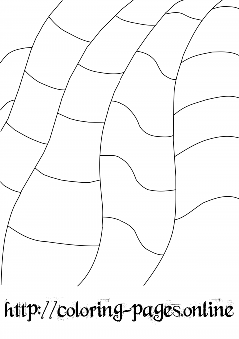 Simple pattern coloring page