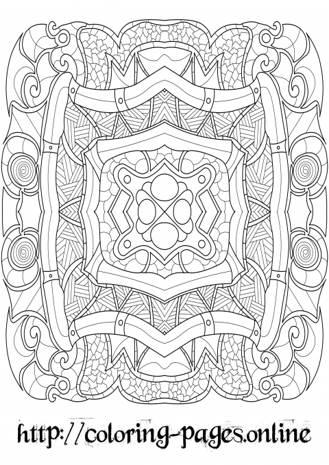 Tube pattern coloring page for adults