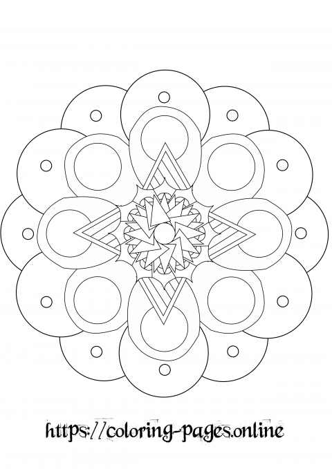 puffy mandala coloring page