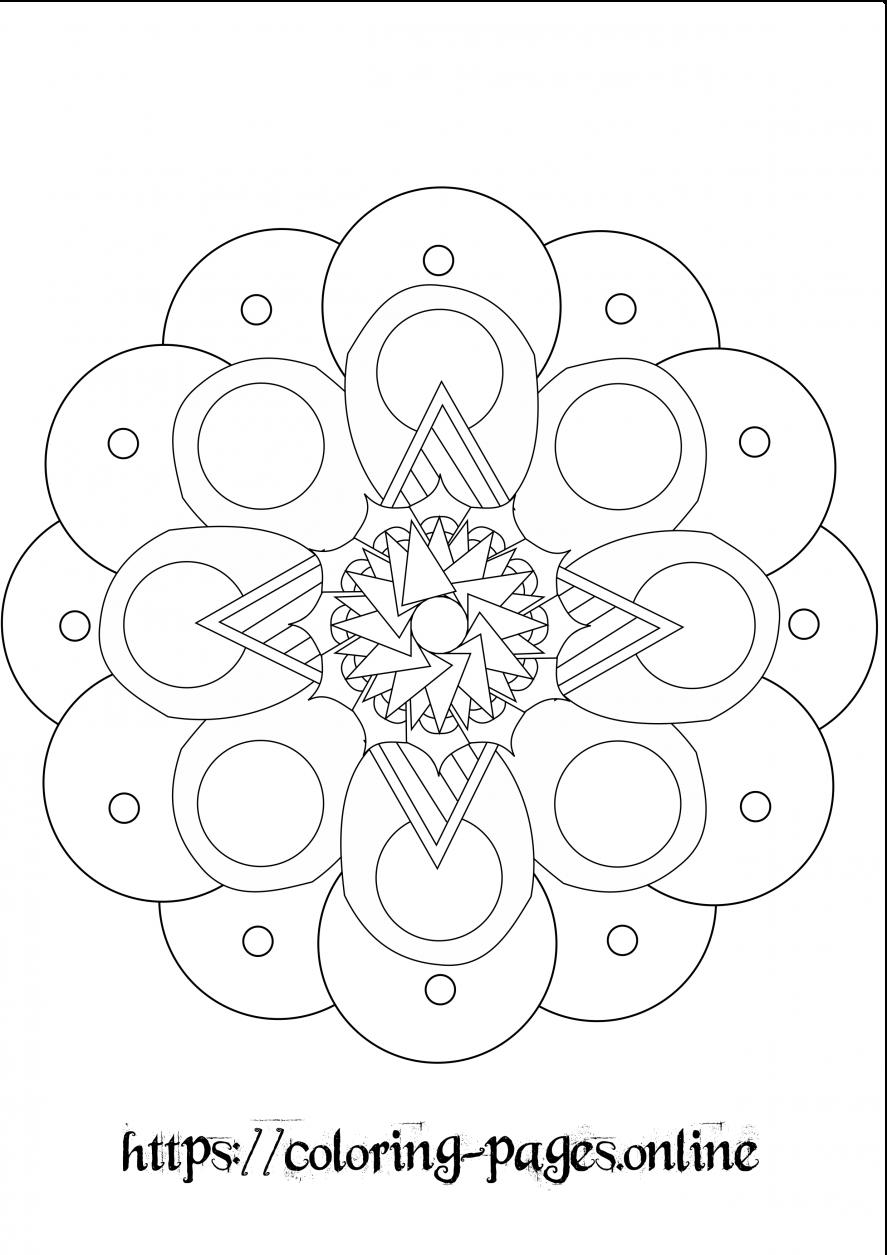puffy mandala coloring page