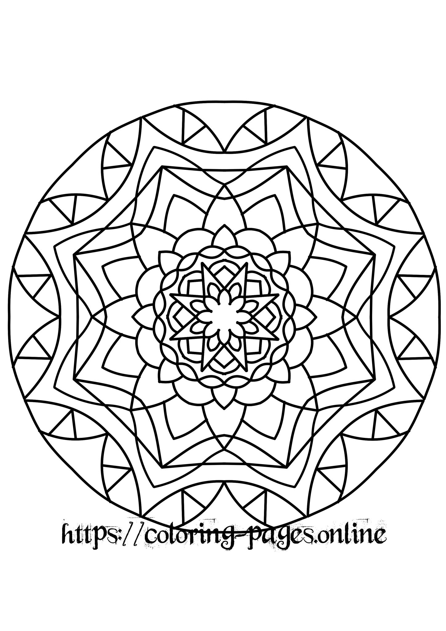 Eye mandala colorin page