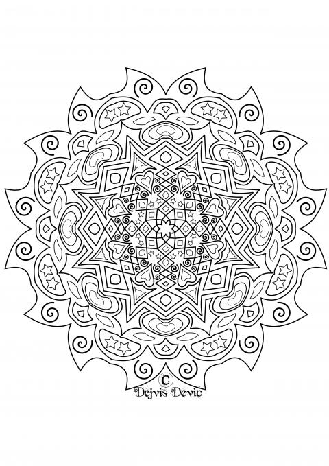 extra complex mandala