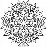 Swirly mandala