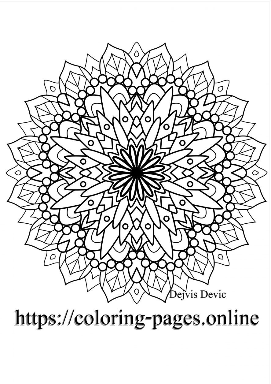 splending mandala printable colring page