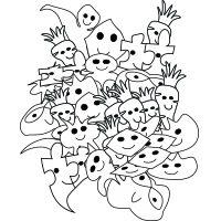 Doodle art coloring pages